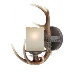 Yoho One Light Vanity Black Walnut | Rustic Cabin & Lodge Lighting | Antlers Etc - Rustic Cabin, Lodge & Hunting Decor