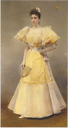 Joaquin Sorolla y Bastida, Portrait of Countess of Santiago
