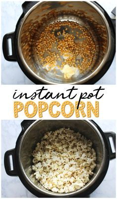 Instant Pot Popcorn Recipe- make popcorn from an instant pot! So easy and fast. Instant Pot Popcorn Recipe- make popcorn from an instant pot! So easy and fast. Best Instant Pot Recipe, Instant Recipes, Instant Pot Dinner Recipes, Instant Pot Meals, Instant Pot Pressure Cooker, Pressure Cooker Recipes, Pressure Cooking, Faire Du Pop Corn, Crockpot Recipes