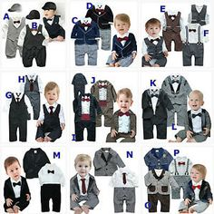 Baby Boy Wedding Christening Christmas Pageant Formal Suit Set 237cd138b1