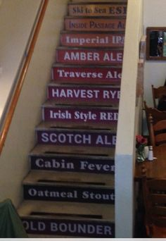 Stairs at Boundary Bay Brewery, Bellingham WA