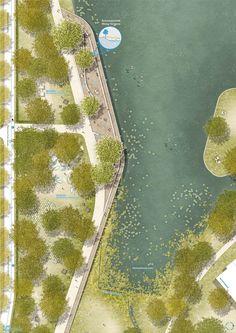 1:200 Terrasse Großer Woog #gardenplanningarchitecture #LandscapeMasterplan