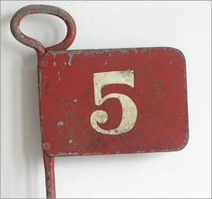 vintage number 5 | The Vintage Wall - Metal golfing marker flag: number 5, Pattissons ...