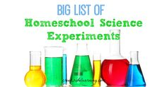 Choose from astronomy, biology, chemistry, zoology, states of matter...science experiments for kids to do at home...huge list of science experiments homeschool