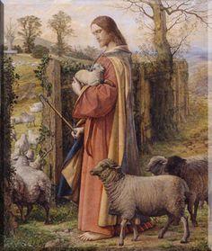 Beautiful painting of The Good Shepherd