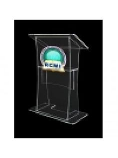 Large Lectern With Clear Front Panel