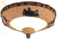 Dark Pine WoodAnimal Light Bowl Kit