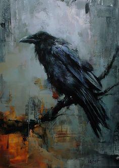 Edgar Allan Poe Lovers Painting Black Raven Lindsey Kustusch Poster No Frame Crow Art, Bird Art, Corvo Tattoo, Crow Painting, Black Painting, Art Noir, Raven Bird, Raven Feather, Crows Ravens