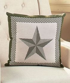 Awe Inspiring Burgundy Pillow Barn Primitive Star Country Checkered Sofa Customarchery Wood Chair Design Ideas Customarcherynet