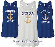 2 Personalized Bride and Bridesmaids  by SweetSouthernCompany