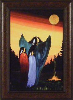 Native American Paintings, Native American Artists, Canadian Artists, Native American Indians, American Indian Art, American Women, Indigenous Art, Native Art, Native Style