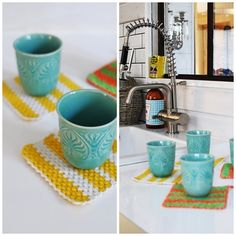 Very pretty colour combo of the yellow and turquoise