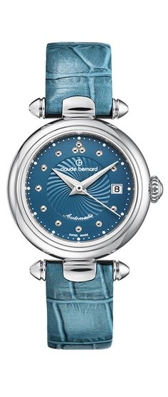 Swiss Made Claude Bernard 35482 3 BUPIN Women's Watch Turquoise Automatic Genuine Leather Band. 100% Authentic. FREE US SHIPPING. MAKE AN OFFER!