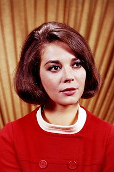 natalie wood in the daily news color studio, 1966. photo by harry warnecke