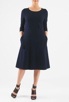 I <3 this Cotton knit easy shift dress from eShakti