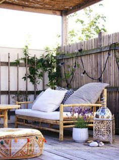 33 Amazing Small Terrace Design Ideas : 33 Amazing Small Terrace Design Ideas With Wooden Bench And Pillow And And Wooden Table And Cushion And Wooden Floor And Beams