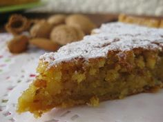 """Bolo Delicia do Algarve """"D. My Recipes, Sweet Recipes, Cake Recipes, Dessert Recipes, Favorite Recipes, Portuguese Desserts, Portuguese Recipes, Cookies Et Biscuits, Cake Cookies"""