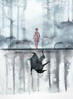 Escenas de stranger things, ilustraciones de Stranger Things, dibujos de personajes de Stranger Things.