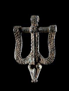 Africa | A 'Snake Debira' Pendant from the Gan people of Burkina Faso | Bronze | ca. 1950