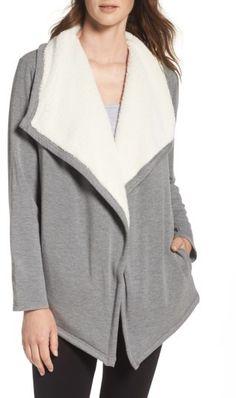 Women's Ugg Faux Shearling Shawl Cardigan $88.80 http://shopstyle.it/l/sZUO