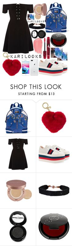 """""""Untitled #296"""" by karilooks ❤ liked on Polyvore featuring Moschino, Michael Kors, River Island, Gucci, She.Rise, Manic Panic NYC, Rituel de Fille and Physicians Formula"""