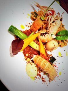 @dean_douglass - Shell fish risotto langoustine soil baby veg langoustines #feedyoureyes July/August