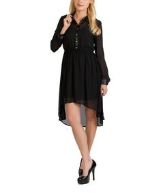 Look at this Black Button-Up Hi-Low Dress on #zulily today!