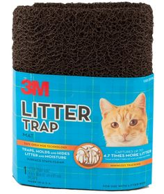 Helps trap litter when Kitty gets out of the box.