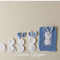 Crochet Panda, Crochet Daisy, Manta Crochet, Crochet Granny, Crochet Motif, Crochet Animals, Diy Crochet, Crochet Squares, Crochet Blanket Patterns