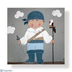 Cuadro infantil personalizado: Niño pirata (ref. 12007-01)