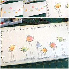 Maneras Creativas párrafo Dibujar pájaros Divertidos 1