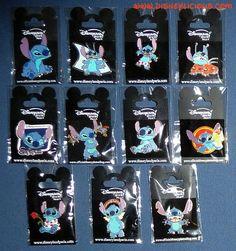 time to start hunting again! Lilo Stitch, Disney Stitch Pins, Lelo And Stitch, Cute Stitch, Disney Pins Sets, Disney Trading Pins, Disney Pin Collections, Disneyland Pins, Stitch And Angel