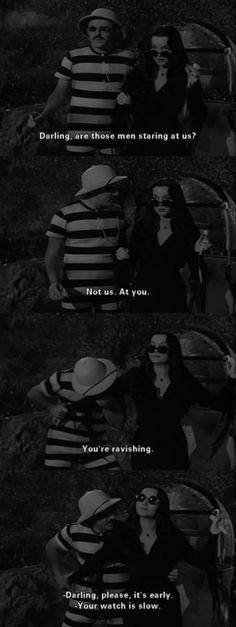 Why have a fairytale romance when you can be like Gomez and morticia halloween morticia Morticia And Gomez Addams, Charles Addams, Cinema, Shows, Ms Gs, Hopeless Romantic, Movie Quotes, Tv, Amor