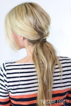 5 Minute Hairstyles…That Look Like They Took Hours!  #hair #hairstyles #longhair…