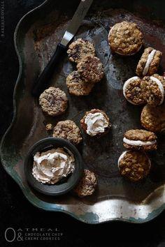 Oatmeal Sandwich Cookies - Oatmeal & Chocolate Chip Creme Cookies / Bakers Royale  #Chip, #Chocolate, #Cookies, #Creme, #Oatmeal, #Sandwich