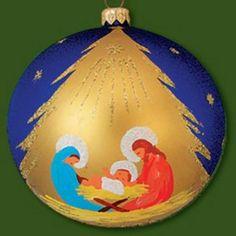 150mm Nativity Scene Hand Painted Ball