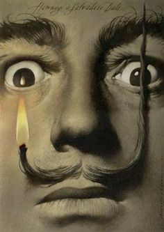 Hommage  a Salvadore  Dali  acrylic on paper  size: 38 x 27 cm  year: 2000  Wieslaw Walkuski Poster Art