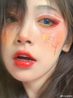 Cool Makeup Looks, Creative Makeup Looks, Crazy Makeup, Cute Makeup, Makeup Inspo, Makeup Art, Makeup Inspiration, Beauty Makeup, Harajuku Makeup