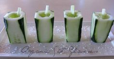 Shot glasses from cucumber | Imnopeas via instructables