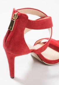 Kenneth Cole New York BROOKE - Sandales à talons hauts - fuego - ZALANDO.FR Zalando Shoes, New York, Sandals, Fashion, Heeled Sandals, Leather, Spike Heels, Tops, Men Styles