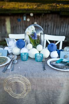 Winter wedding table