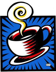 """Coffee Cup""  |  Burton Morris Pop Art"