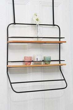 Over-The-Door Tiered Shelves Storage Rack