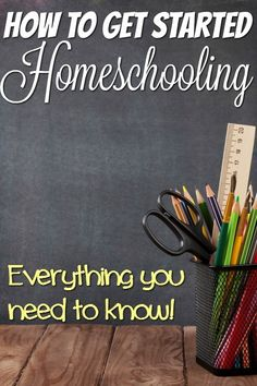 Getting started homeschooling can be scary and seem overwhelming. I've been there. But this should also be a fun and exciting time for your family! See how to get started homeschooling the easy way with tips from seasoned homeschool moms!
