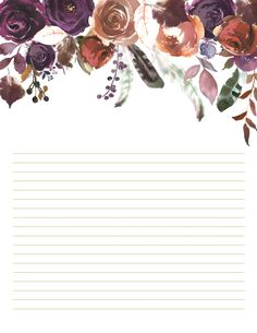 Boho Brown Stationery Set Get these beautiful Watercolor Boho stationery to add some luxury to your stationery collection. Stationary Printable, Printable Paper, Page Borders Design, Vintage Lettering, Bullet Journal Ideas Pages, Stationery Paper, Writing Paper, Note Paper, Pretty Art