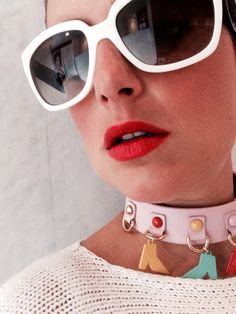 Prada sunglasses + bimba & lola necklace