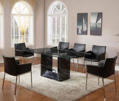modern dining room sets granite top dining table storage dining