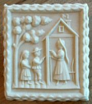 Cookie made with Hansel and Gretel Mold #1610