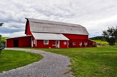 Red Barn at Beekman Farm by Scully Photo, via Flickr...Sharon Springs, NY