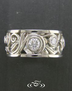 Delicate filigree engagement ring.